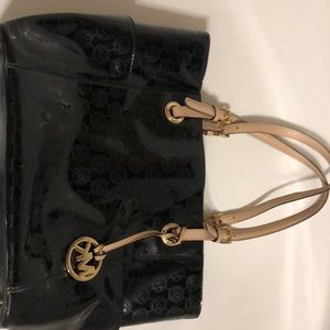 Michael Kors Black Patton Leathe Handbag